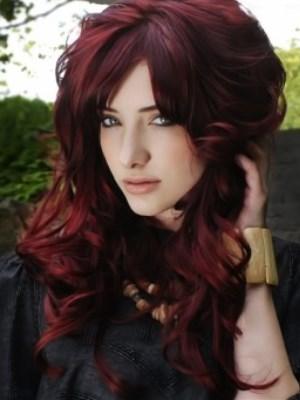 Цвет махагон на волосах фото