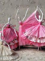 Балерина из проволоки и салфеток
