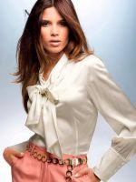 Осенняя белая блузка