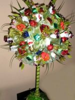 Дерево из конфет