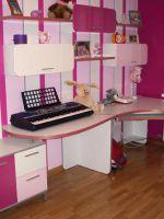 Детская модульная мебель для девочки