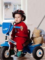 Детские трехколесные велосипеды с ручкой