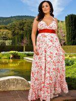 Длинные платья для полных женщин