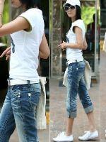 Как из джинс сделать бриджи?