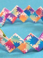 Как сделать браслет из бумаги?