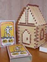 Как сделать домик из спичек?