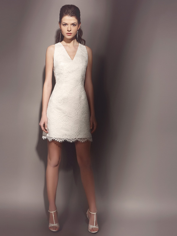 Свадебные платья прямые и короткие фото