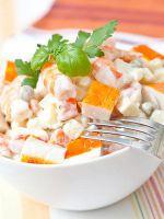 Крабовый салат с яблоком - рецепт