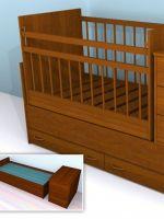 Кроватка трансформер с маятником