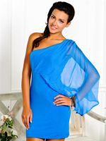 Макияж под голубое платье