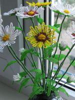 Цветы из бисера - мастер-класс