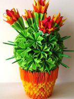 Модульное оригами - кактус
