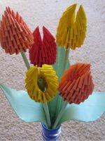Модульное оригами - тюльпан