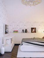 Комбинированные обои для спальни - дизайн