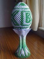 Оригами: пасхальное яйцо