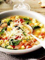 Овощной суп минестроне – рецепт
