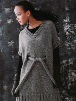 Платье-туника вязаное спицами