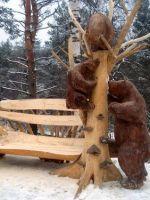 Поделки из дерева для дачи