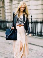 С чем носить длинный сарафан?
