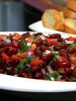 Салат из красной фасоли – рецепт