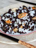 Салат из мидий с рисом