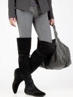 Сапоги ботфорты без каблука