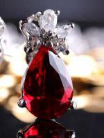 Серьги с рубином из золота