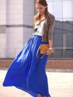 Синие юбки в пол, фото