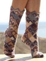 Вязаные крючком носки