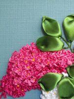 Вышивка лентами «Сирень»: мастер-класс