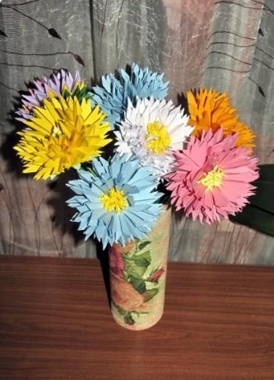 Цветы из бумаги своими руками для бабушки