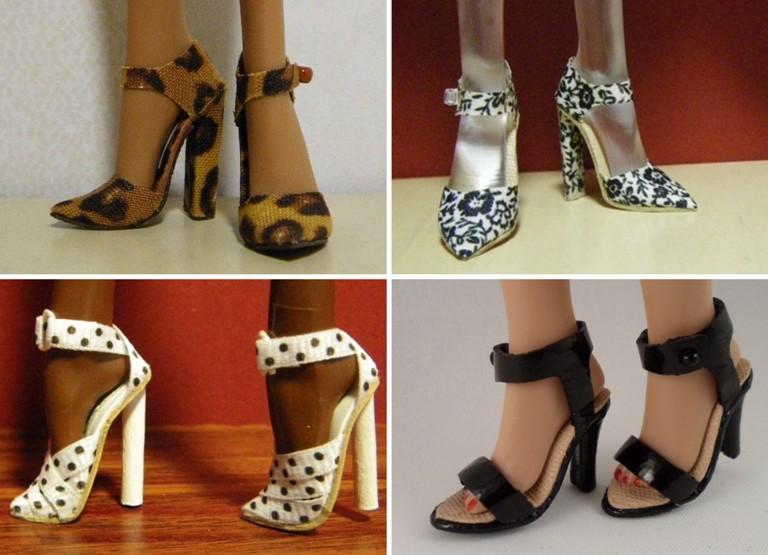 Как сделать обувь для барби из картона своими руками