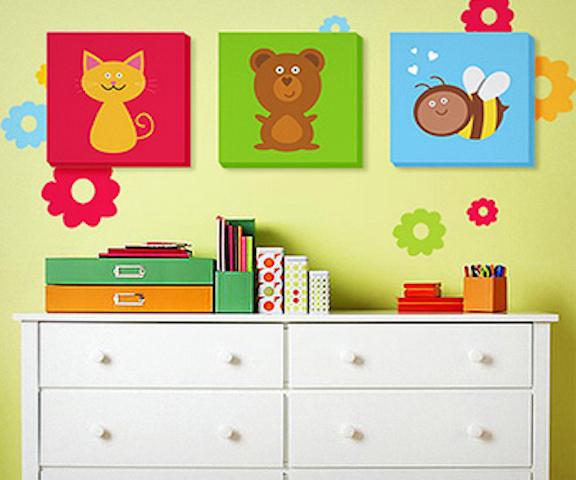Картины для детской комнаты на стену своими руками 28