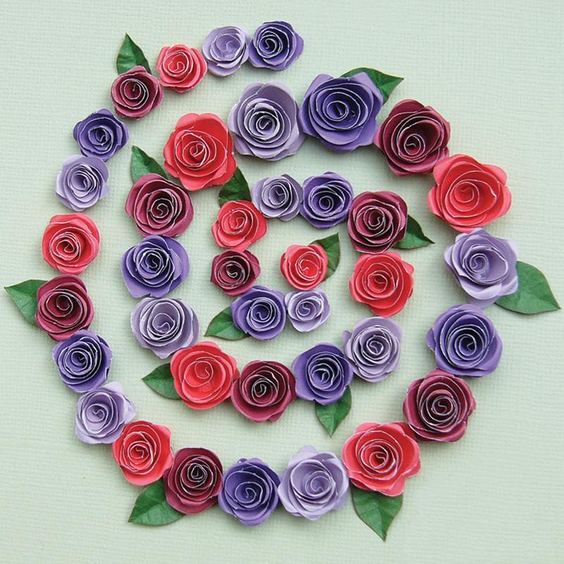 Как с бумаги для квиллинга сделать розу 2