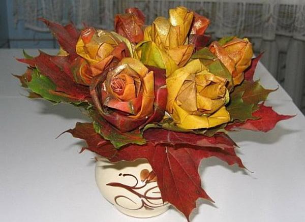 Поделка роз из материала