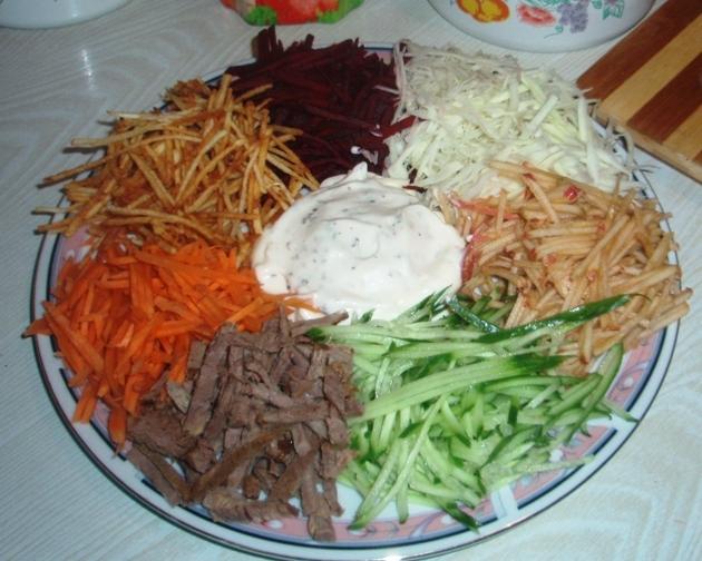 Салат козел рецепт с картошкой фри