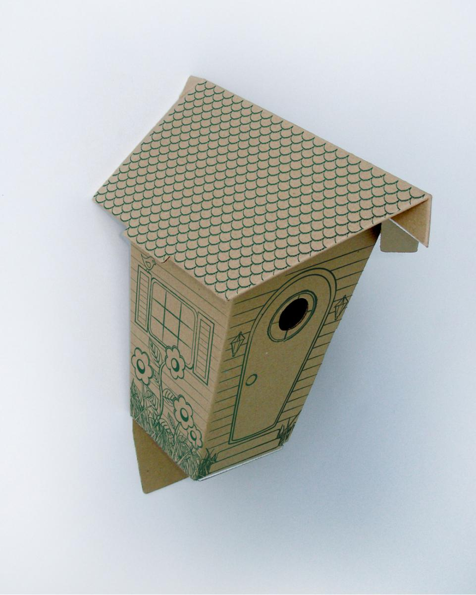 Как сделать декоративный скворечник из картона