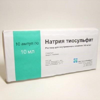 тиосульфат натрия внутривенно отзывы при аллергии