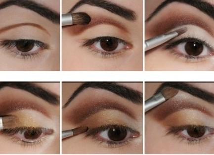 макияж банан схема