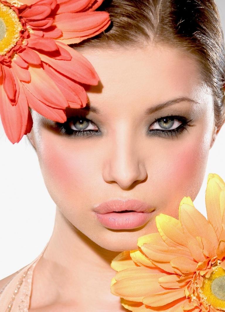 макияж с блёстками фото инструкция