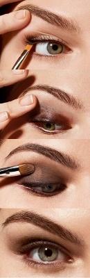Итак, макияж глаз смоки айс поэтапно.
