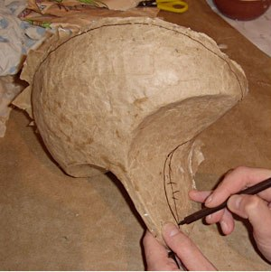 маска из папье маше 8