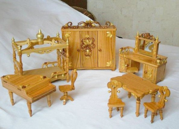 Кукольны мебель своими руками видео