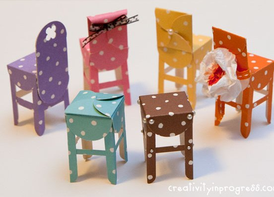 Мебель для маленьких игрушек своими руками из бумаги 88