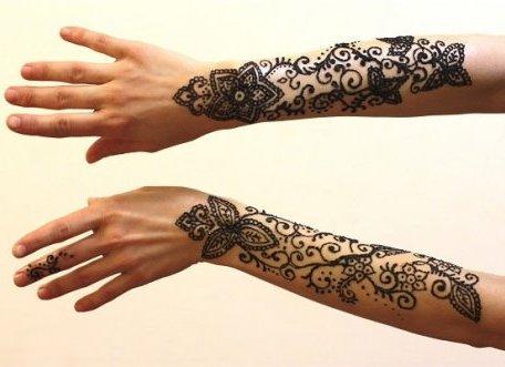 Рисунки из хны на руках для девушек