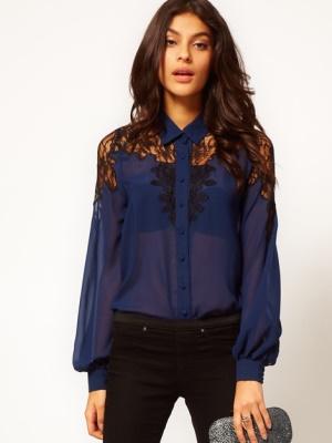 Нарядная блузка из шифона