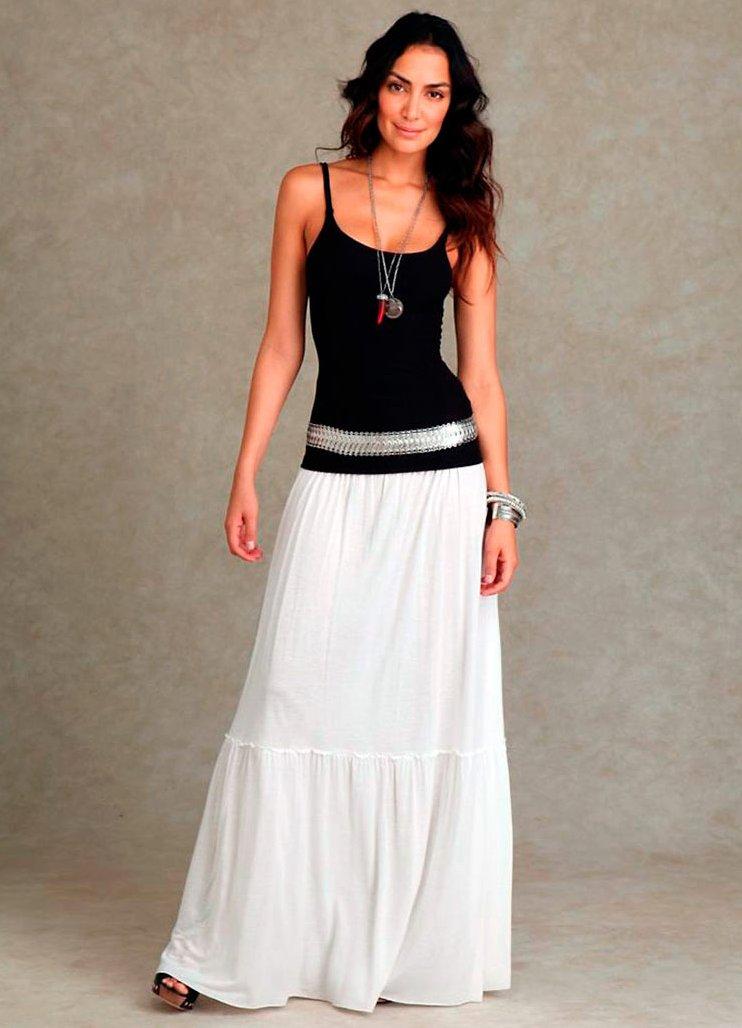 юбки белые на лето для полных