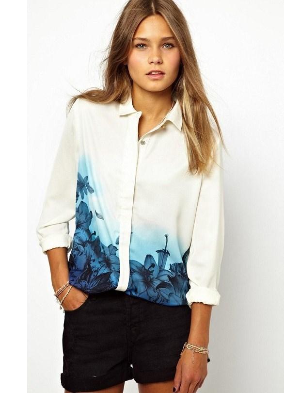 Модные белые блузки 2015