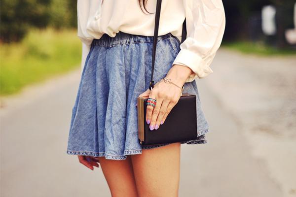 Модные джинсовые юбки 2015