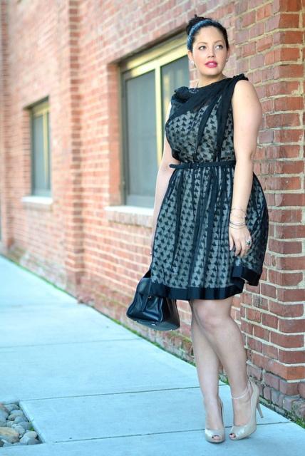 Модные платья для полных женщин 12.